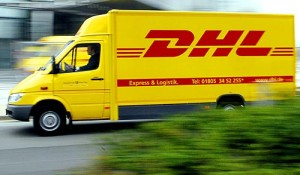 DHL Carrier Truck in Transit
