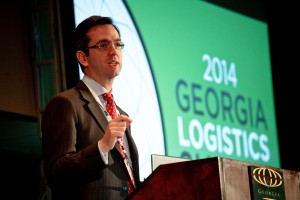 Presenter speaking at the 2014 Georgia Logistics Summit