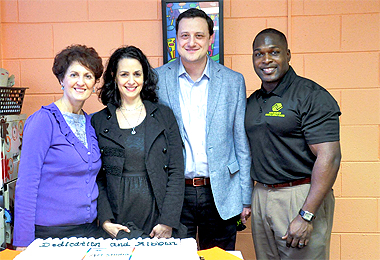 Sarah Field, Kara and Ayal Latz and Bobby Mackey at Boys and Girls Club