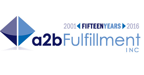 15th Anniversary logo for a2b Fulfillment