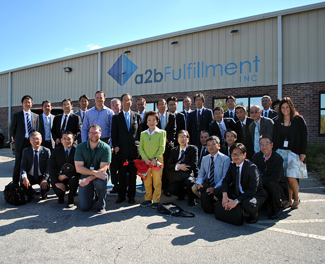 Group Photo of Japan Warehousing Association on visit to a2b Fulfillment
