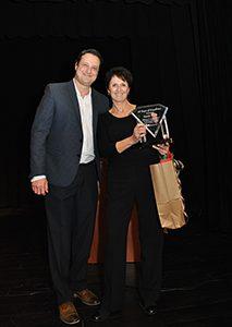 Sarah Field Accepting 10 Year Award