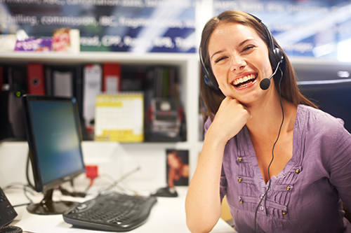 Call Center Agent with a Friendly Smile