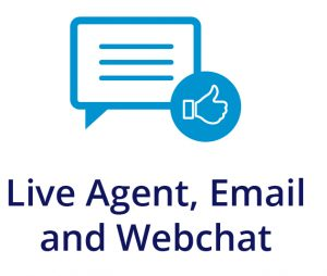 Live Agent, Email and Webchat