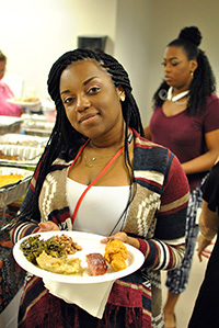 Sherrea Enjoying Thanksgiving Luncheon