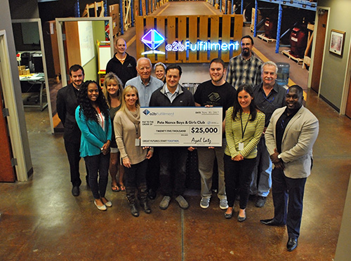 a2b Presents Check to PNC